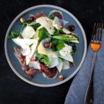 Jerusalem Artichoke, Pear and Prosciutto Salad
