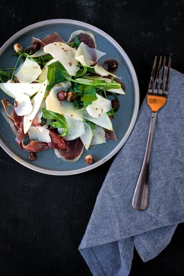 Jerusalem Artichoke, Pear and Prosciutto Salad
