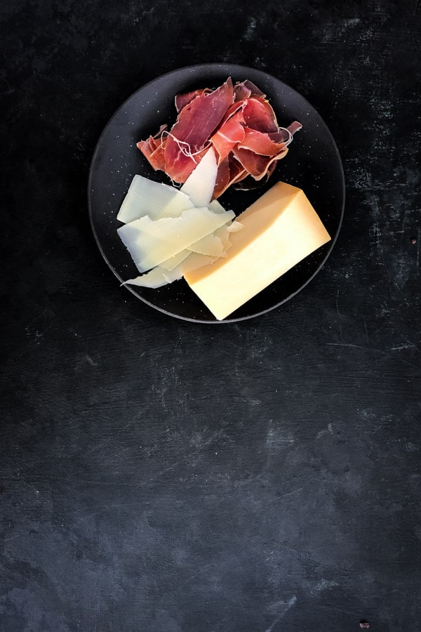 prosciutto parmesan cheese shaved