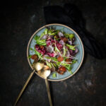 Asparagus, Roasted Onion and Balsamic Tomato Salad