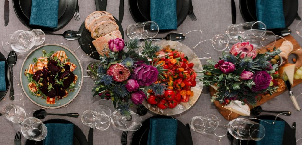 The Devil Wears Salad Dinner Party Table Setting