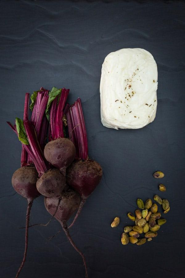 Roast Beetroot salad with Halloumi and Pistachio