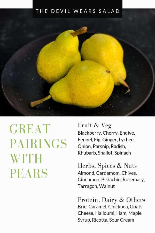 What goes well with pear