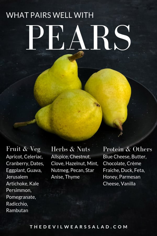 What goes well with pears