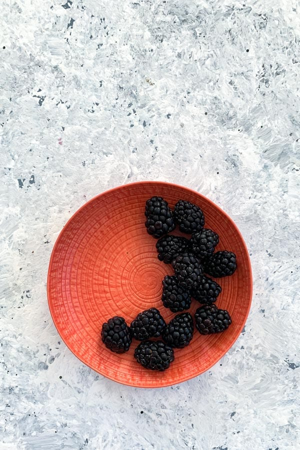 Blackberry Berry Salad with Sumac Dusted Meringues
