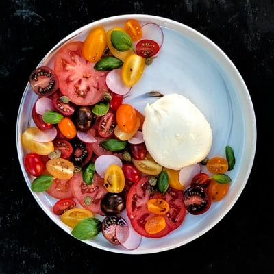 Medley of Tomato and Burrata Salad