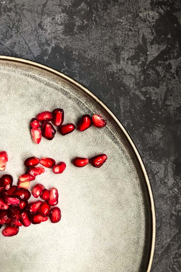 Pomegranate Arils, Barley and Freekeh Salad