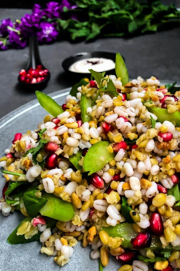 Pomegranate, Barley and Freekeh Salad