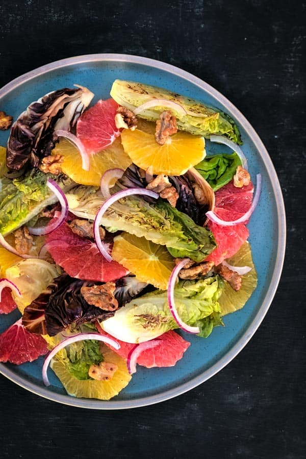Radicchio, Baby Gem, Orange and Ruby Grapefruit Salad