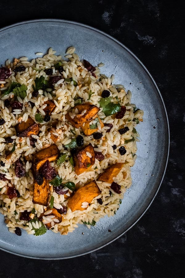 Risoni with Spiced Roasted Butternut Pumpkin