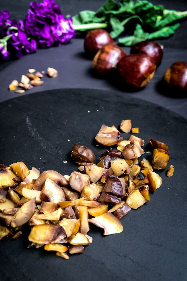 Roasted chestnuts and roasted cauliflower salad