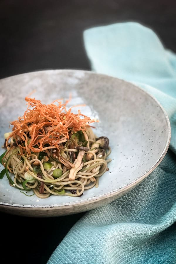 Vegan Soba Noodle Salad with Yuzu Dressing
