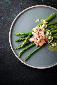 Asparagus and Hot Smoked Salmon Salad