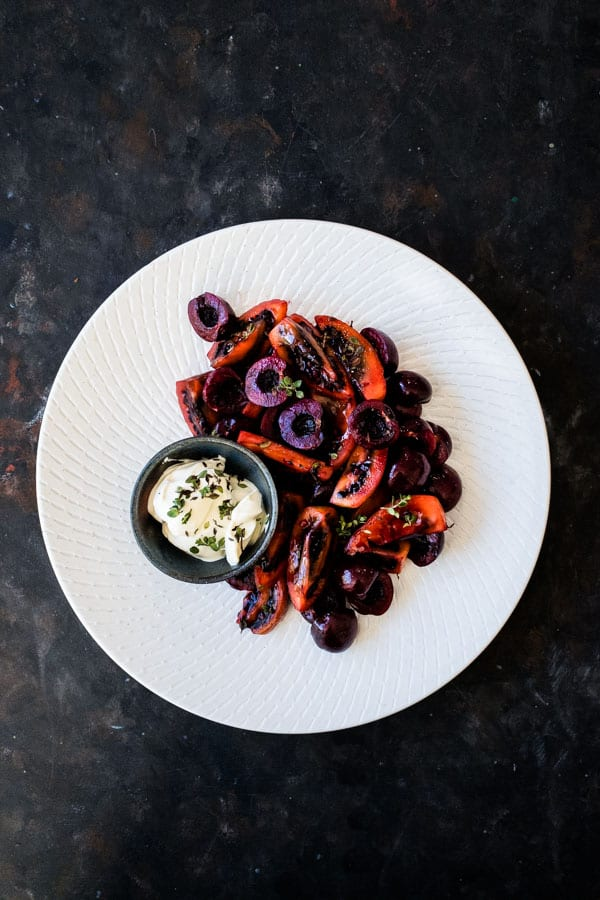 Cherry Tamarillo Salad with Lemon Thyme