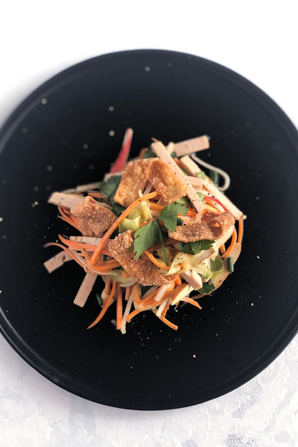 Five Spice Tofu Salad with Vietnamese Cha Lua