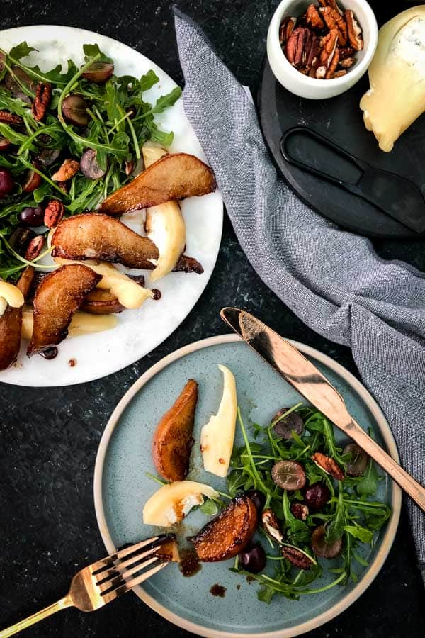 Pear and Rocket Salad with Provoletta Blue Cheese