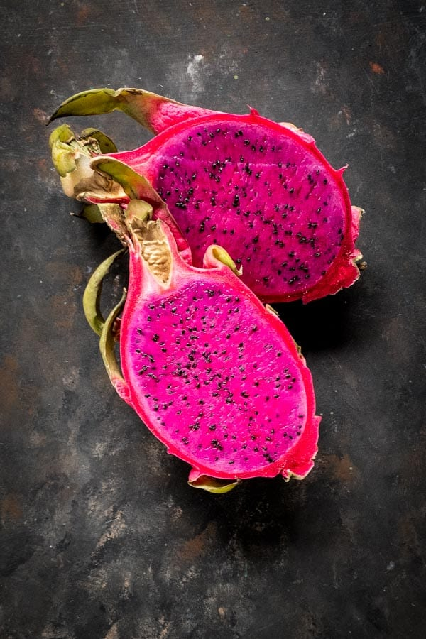 Red dragon fruit or pitaya for red fruit salad
