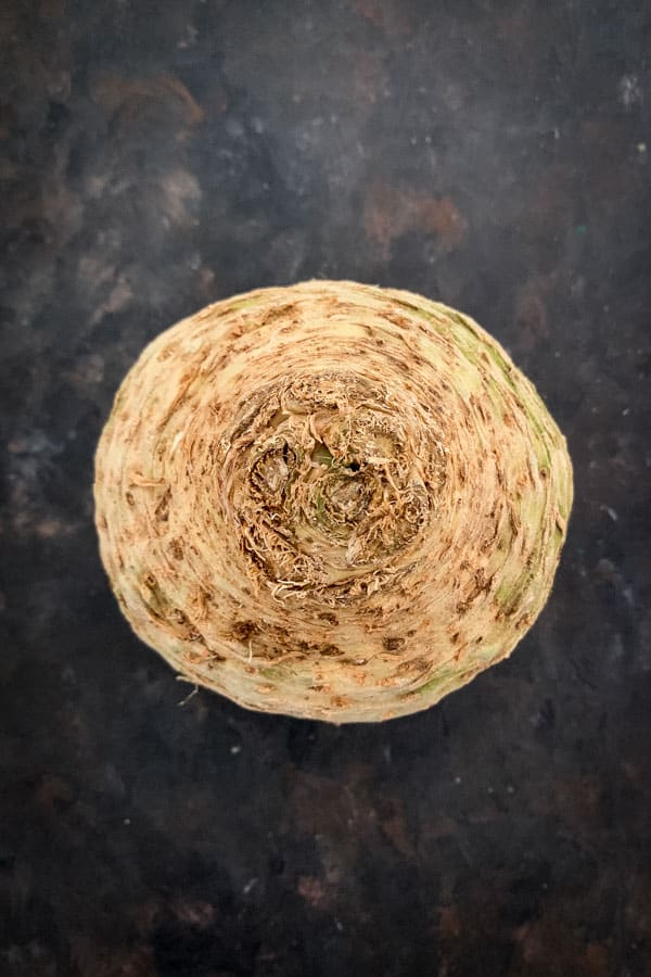 Close up of external celeriac