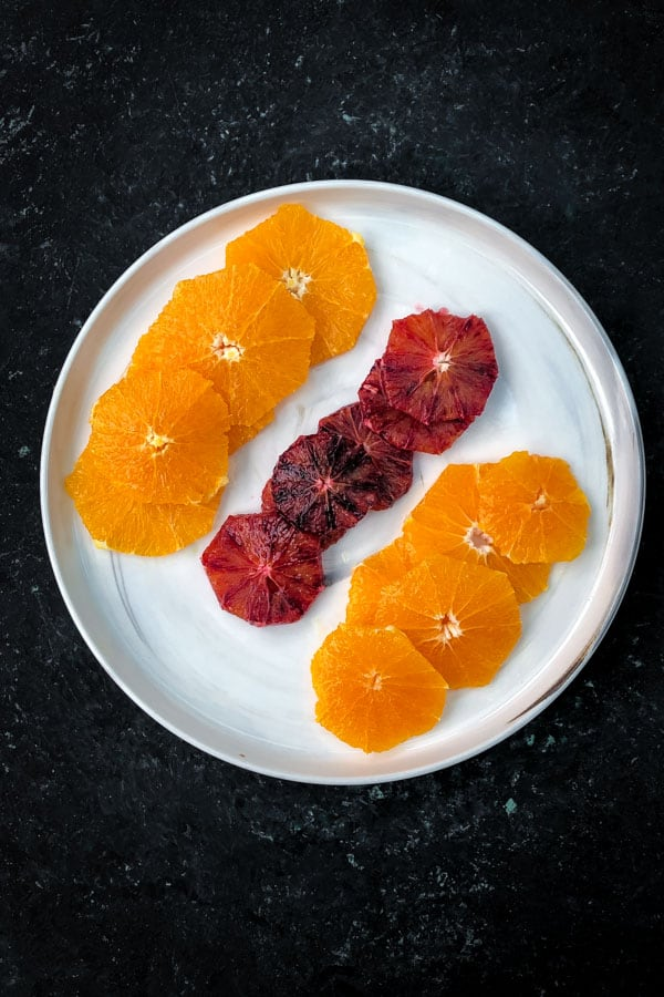 Orange, blood orange and tangelo wheels