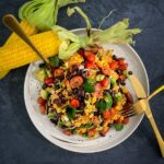 Parmesan Chipotle Corn Salad with Black Beans