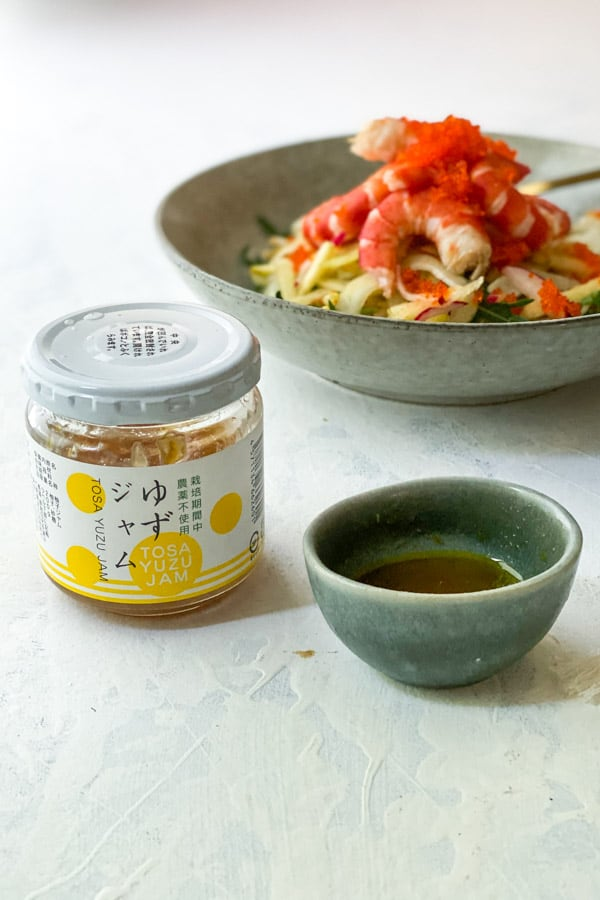 Prawn and Fennel Salad with Yuzu Jam Dressing