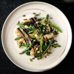 Asian Eggplant Salad with Miso Dressing