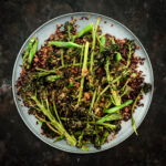 Rustic Black Rice Salad with Purple Broccolini