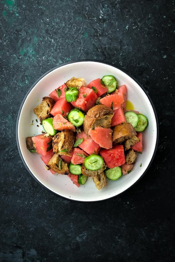 Ruby Grapefruit, Watermelon Panzanella Salad
