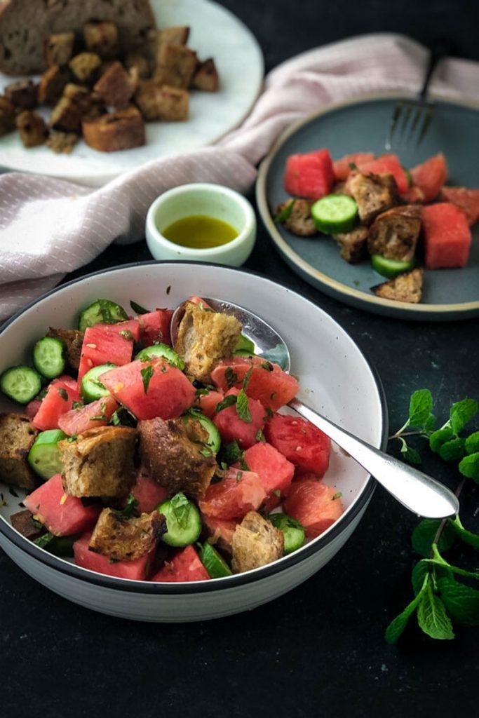 Ruby Grapefruit, Watermelon Panzanella Salad