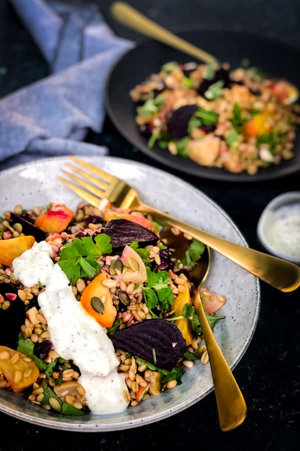 Freekeh Grain Salad with Preserved Lemons