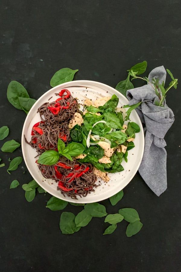 Gluten Free Pasta Salad with Tarragon Mustard Chicken