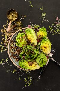 Baby Gem Lettuce Salad with Tamari Seeds