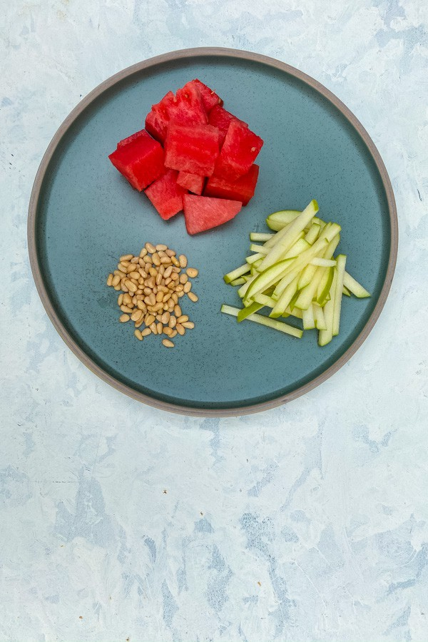 Apple and Watermelon Salad with Tamari Dressing