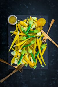 Yellow Salad with Zucchini Flowers