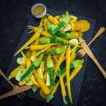 Zucchini Blossom Salad with Golden Beetroot