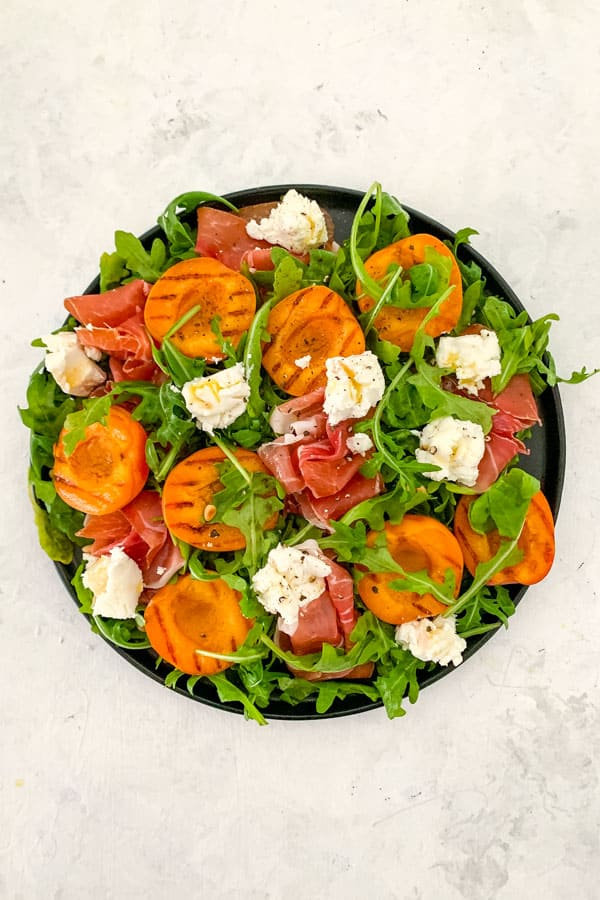Prosciutto Salad with Grilled Apricot