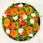 Grilled Apricot Salad with Prosciutto Crudo