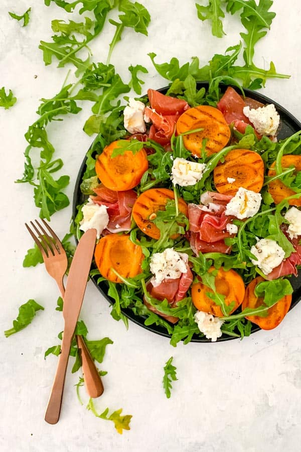 Prosciutto Crudo Salad with Grilled Apricots
