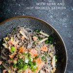 Asian Pear Salad with Soba and Hot Smoked Salmon