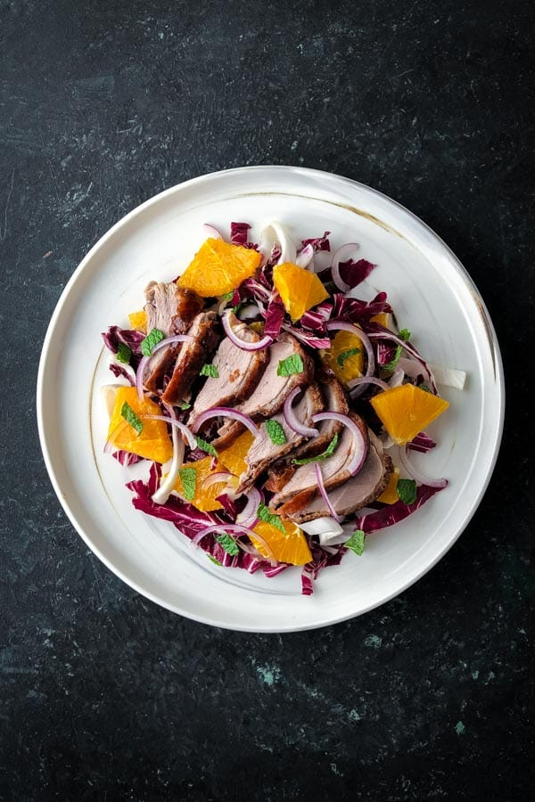 Cantonese Roast Duck Salad with Radicchio