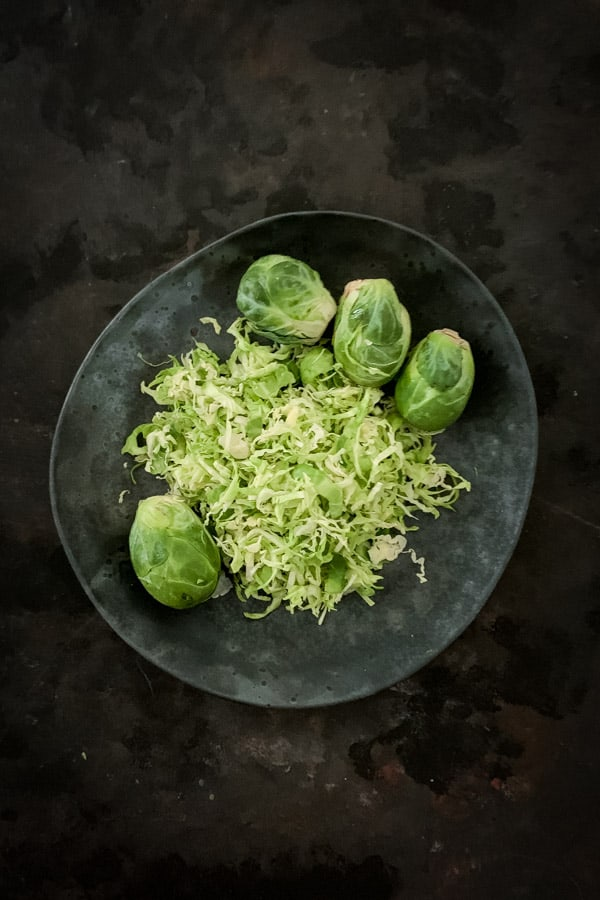 Whole and shave Brussels Sprouts