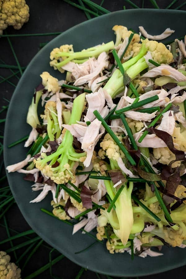 Chinese Cauliflower Salad with Shredded Chicken