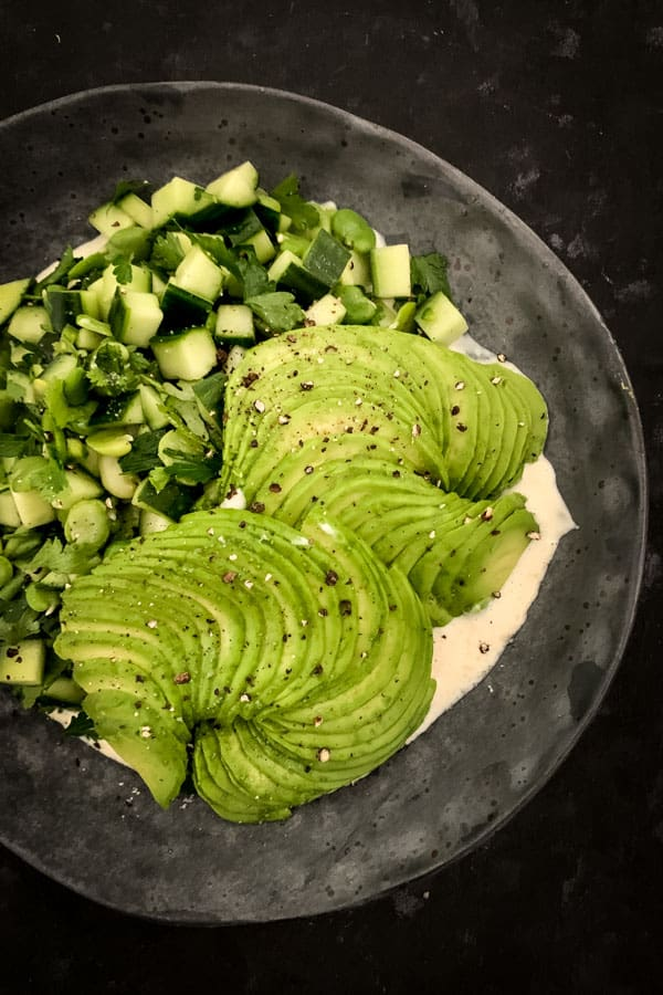 Spicy Green Salad with Avocado