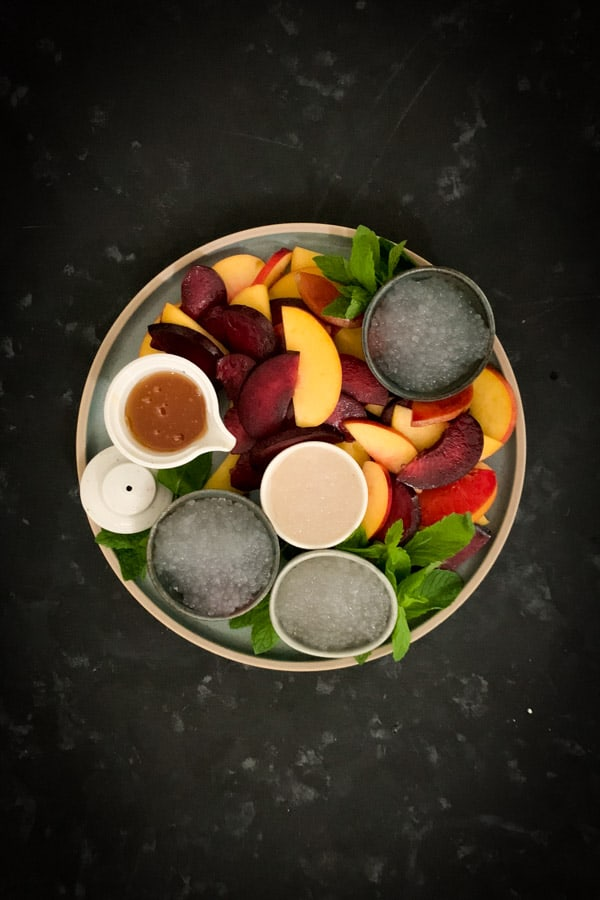 Stone Fruit Salad with Orange Blossom Syrup