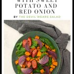 Chorizo Salad with Sweet Potato and Red Onion