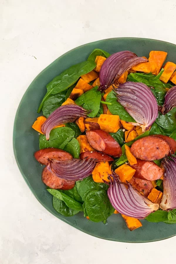 Chorizo Salad with Sweet Potato
