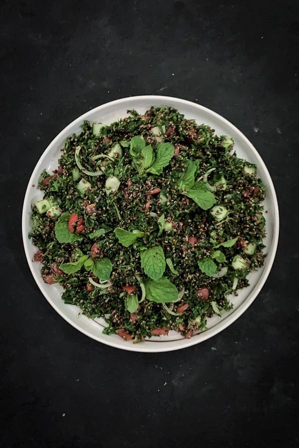 Red Quinoa Parsley Salad