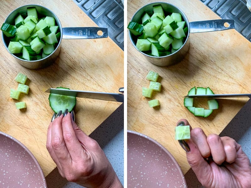 How to Cut Cucumber without seeds