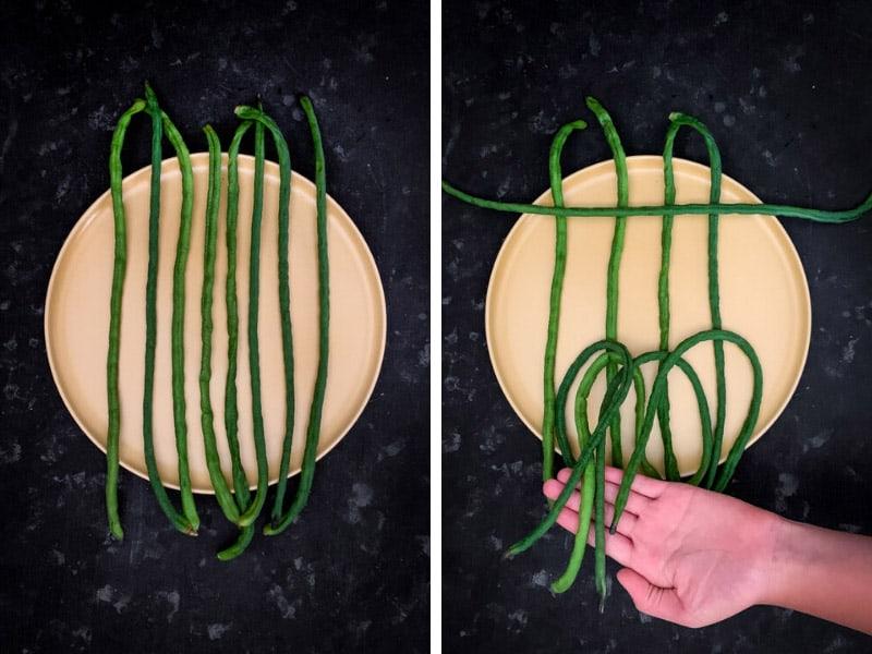 How to Make Snake Beans Latticework