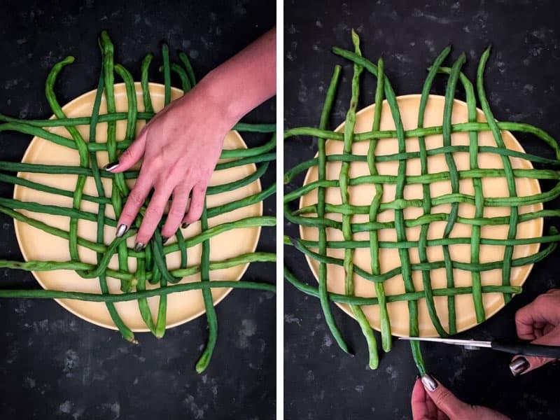 How to Make Snake Beans Latticework Step 3 of 4.